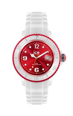 Ice-Watch Ice-White Unisex Red Dial Watch on Strap 1 left...