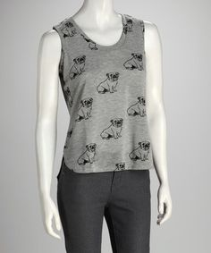 Take a look at this Chinchilla Gray Dog Hi-Low Tank by Love By Design on #zulily today!