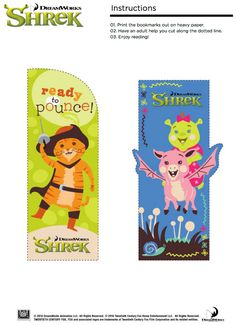 Free Shrek Bookmarks - Ready to Pounce!
