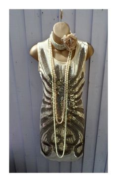 New 20s flapper gatsby hen party wedding holiday ladies dress size UK 12 EU 40