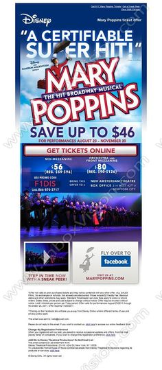 Company: Disney Entertainment (US) Subject: Special Ticket offer for the Hit Broadway Musical         INBOXVISION, a global email gallery/database of 1.5 million B2C and B2B promotional email/newsletter templates, provides email design ideas and email marketing intelligence. www.inboxvision.c... #EmailMarketing  #DigitalMarketing  #EmailDesign  #EmailTemplate  #InboxVision  #SocialMedia  #EmailNewsletters