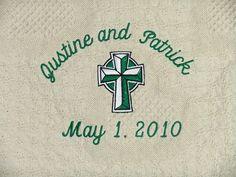 Irish Wedding Blanket Throw Personalized by CoutureWeddingHankie on Etsy