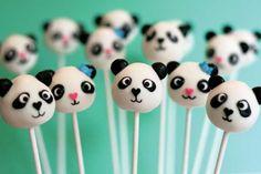 Cute #panda cake popspanda cake pops for Joren's birthday! yes...he will be 15, but he likes pandas! :)