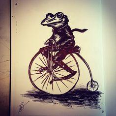 """""""Old Frog Illustration"""" - Dejan Stamatov"""