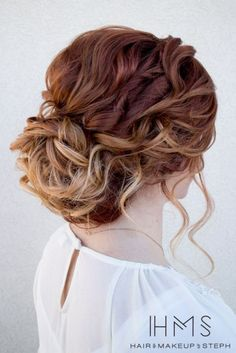 Viral Creek — Lovely Brown Curly Hair Updo...
