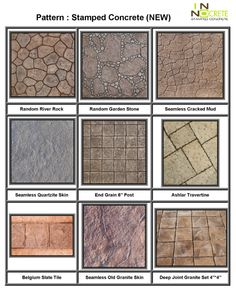 Stamped Concrete Patterns | New Stamped Concrete Pattern