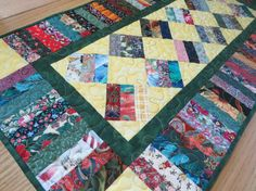 Quilted Scrap Table Runner by QuiltinWaYnE on Etsy