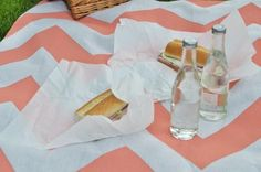 Try Chevron, Like the contrast and simplified creation. DIY Picnic blanket.