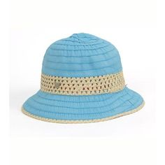 Grosgrain & Ribbon Straw Cloche Hat