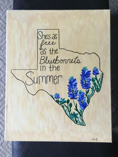 She's Like Texas canvas painting Diy Canvas, Canvas Art, Canvas Painting Quotes, Diy Painting, Map Los Angeles, Bluebonnet Tattoo, Texas Canvas, Shes Like Texas, Texas Tattoos