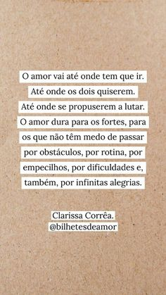 frases Beauty Trends 2019 beauty trends on social media Amazing Quotes, Best Quotes, Portuguese Quotes, Tragic Love, Talk About Love, Time Quotes, Quote Posters, True Words, Just Love