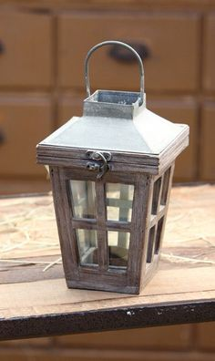 This cute lantern doesn't dominate a room but it sure adds a nice touch. Use this in your family room or kitchen to tie together that look you're going for. You can even bring it outside with when the