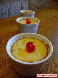 Dragostea in bucate: BUDINCA COAPTA DE OREZ, BRANZA SI ANANAS Deserts, Food And Drink, Pudding, Ice Cream, Sweets, Drinks, Cake, Pineapple, No Churn Ice Cream