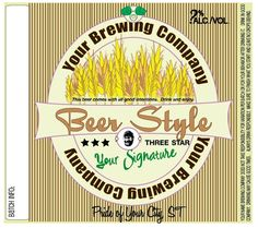 Home Brew Customized Beer Label  Whole Wheat by orangeladybird,