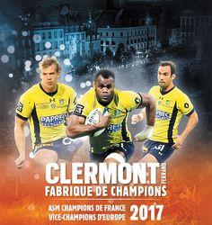 Clermont Auvergne Métropole-L'ASM Championne de France !! Super Rugby, Asm, Rugby Sport, Clermont, Champions, France, Sports, Movie Posters, Movies