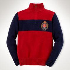 Crest Cotton Half-Zip Sweater - Boys 8-20 Sweaters - RalphLauren.com
