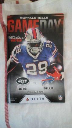 Buffalo  Bills  Vs Jets Game Program  2016 #BillsJets
