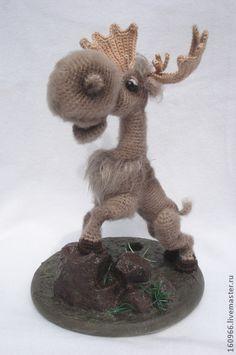 Игрушки животные, ручной работы. Ярмарка Мастеров - ручная работа Лосенок, маленький, но очень смелый. Handmade.