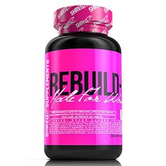 SHREDZ RebuildPM Made for Women 60 Capsules 30 Day Supply  Muscle Recovery While You Sleep Sleep Aid Rejuvenate REM Sleep * Want additional info? Click on the affiliate link Amazon.com on image.