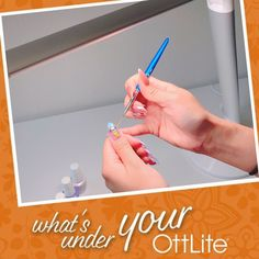 uses her OttLite when creating gorgeous nail art! What do you use your OttLite to create? Make sure to tag us and use for a chance to be featured! Light Crafts, Desk Light, Gorgeous Nails, Floor Lamp, Nailart, The Incredibles, Create, Projects, How To Make