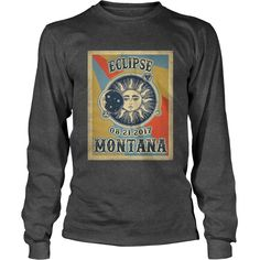 Vintage Montana Vintage #Solar #Eclipse 2017 Tshirt, Order HERE ==> https://www.sunfrog.com//135975009-979744244.html?6782, Please tag & share with your friends who would love it, #christmasgifts #renegadelife #birthdaygifts