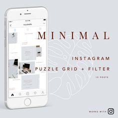 Minimal Instagram Puzzle Grid   filter