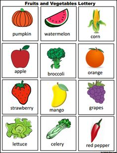 fruits and vegetables lottery Learning English For Kids, Kids English, Learn English, Preschool Garden, Preschool Learning, Preschool Activities, English Teaching Materials, Teaching English Grammar, Ingles Kids