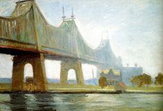 edward hopper | Edward Hopper (1882-1967), Queensborough Bridge (1913).