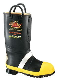 Thorogood Mens Sole 35 Black Rubber Hellfire Light Insulated Fire Boot