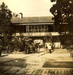 vintage New Orleans photo, Inside Jackson Barracks c 1912-1915, NOLA History