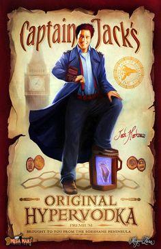 Captain Jack's Original Hypervodka - on Teefury! by MeganLara on deviantART