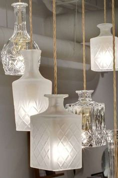 Oude glazen lamp