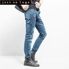5065dff7 American Style Men Blue Straight Slim Fit Skinny Denim Jeans Biker Jeans  for Man Baggy Casual Streetwear Ripped Distress Trouser-in Jeans from Men's  ...