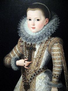 Isabella Clara Eugenia, daughter of Philip II of spain and Elizabeth of Valois.  Beloved by and very close to her father, she was put forward as a claimant to the throne of France, in spite of the Salic law.