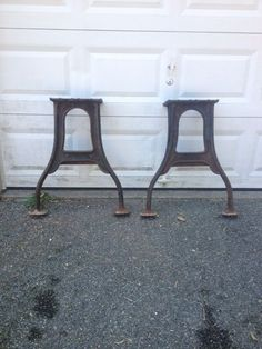 antique industrial cast iron table legs pairlocal pick up only