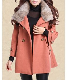 Product Details: Clothes Type Wool & Blends Material Wool, Polyester Type Skirt Clothing Length Long Sleeve Length Full Collar Turn-down Collar Pattern Type Solid Embellishment Pockets Style Fashion W