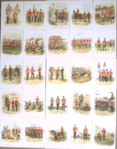 Light Infantries & Regiments by Richard Simkin(1890-1905) Set 25 Trading Cards