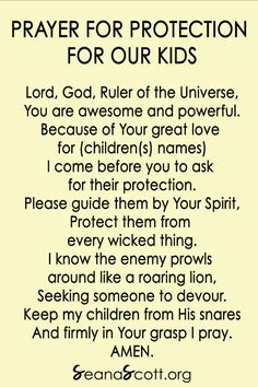 Prayer is powerful. Pray this protection prayer for your kids as a starting place. Let the Spirit move you into what else to pray for your kids. Prayer For My Children, Prayer For You, Power Of Prayer, Daily Bible Devotions, Bible Encouragement, Christian Warrior, Prayer For Protection, Daily Word, Inspirational Prayers