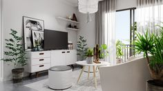 Roohome.com - What kind of home design that you want? Here we suggest you applying a Scandinavian home design that looks so chic with modern interior design in it. The designer has been explained how to arrange it to make it become so perfect and awesome. This design combining a gray and ...