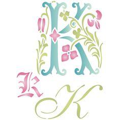Initial K Stencil http://www.amazon.com/dp/B0146RAMKA/?m=A1SEUOZ4T4HCBD