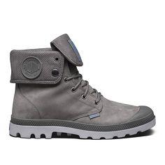 Palladium Baggy Leather Gusset Boot Moss Gray/ Vapor
