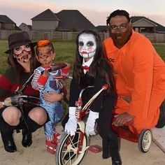 Family costume Ideas - Freddy Kruger , Chucky, Saw, Hannibal Lecter