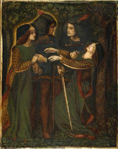 'How They Met Themselves': Dante Gabriel Rossetti, (watercolour version c. 1860-64)