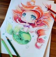Disney Chibi Ariel By Lighane - Chibi Anime, Disney & Still Life Art by Lighane Anime Chibi, Anime Pokemon, Anime W, Anime Kawaii, Kawaii Chibi, Chibi Disney, Disney And Dreamworks, Disney Pixar, Disney Characters