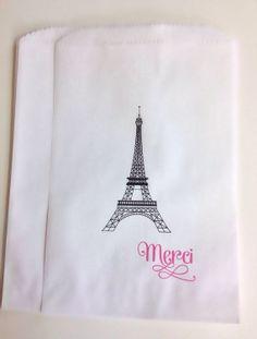 Candy Buffet Favor Bags Candy Buffet Bags Paris by SweetLoveCandy, $10.00