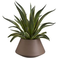 Roz Planter, large taupe | $30