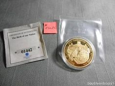 AMERICAN MINT 2009 Congress Coin CU Layered 24k Gold Proof 40mm MEDAL 01442
