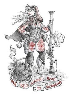Víctor Rivas Ilustrations: Big Red Ridding Hood