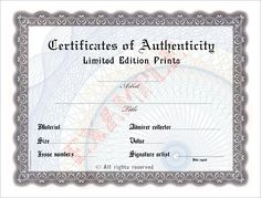 limited edition print certificate of authenticity template.html