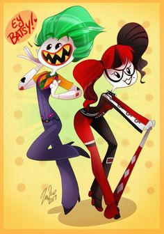 Harley Quinn and Joker by Vivziepop